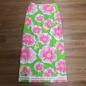 Lilly Pulitzer floral maxi skirt